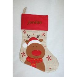Chaussette de Noël rouge...